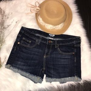 Dark blue jean shorts